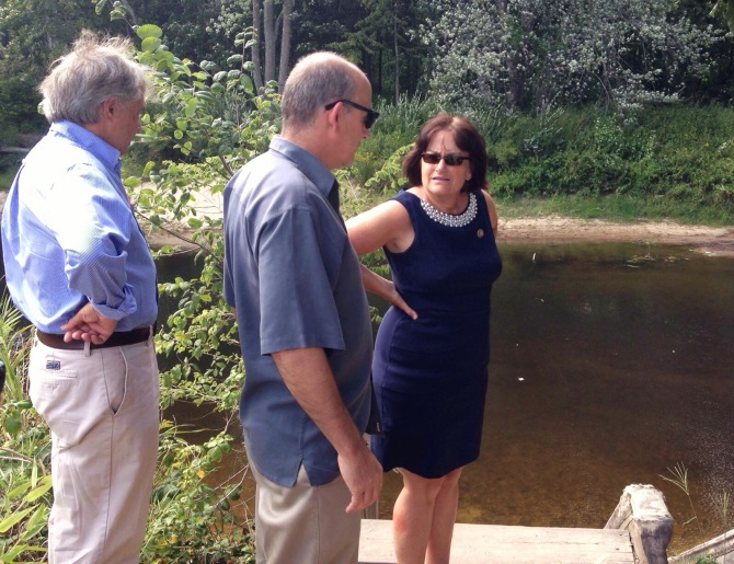 During her tour of sites for the proposed Kinder Morgan pipeline, Kuster heard the thoughts and concerns of local officials from towns potentially impacted by the project