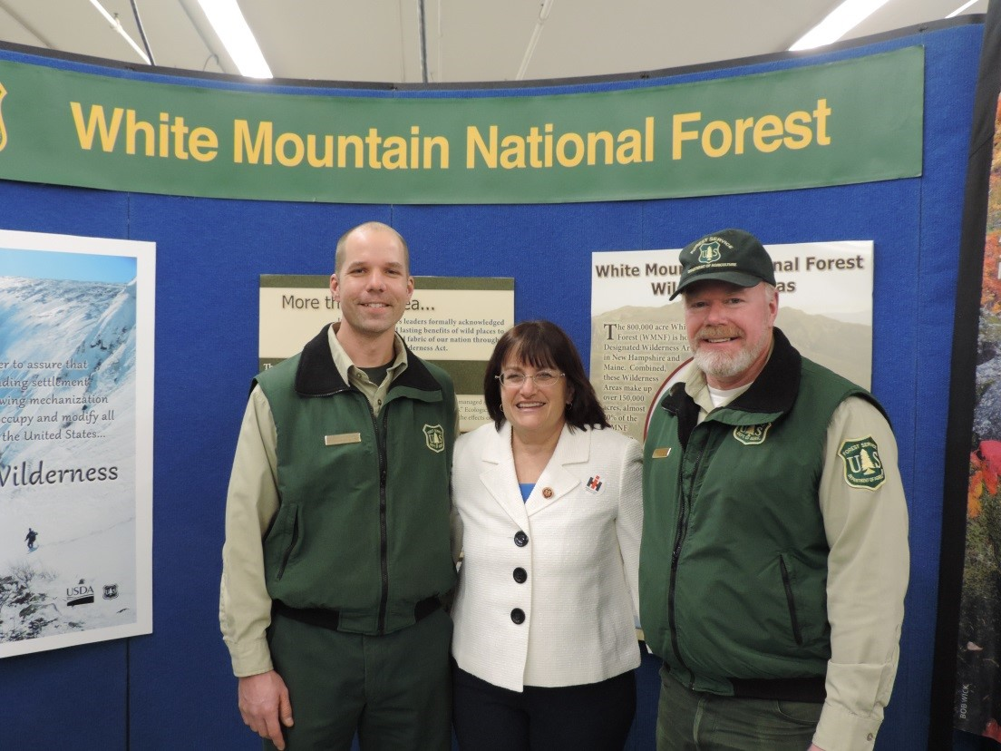 Rep. Kuster with White Mountain park rangers