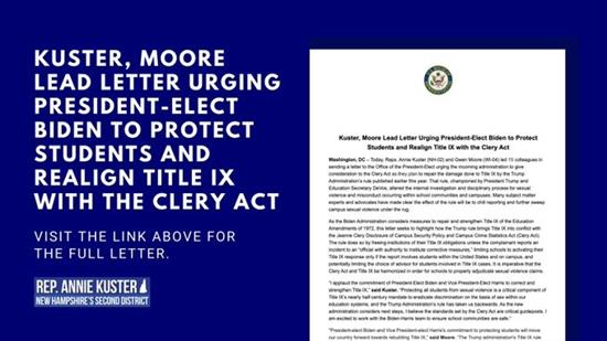 Title IX - Clery Act Letter Graphic