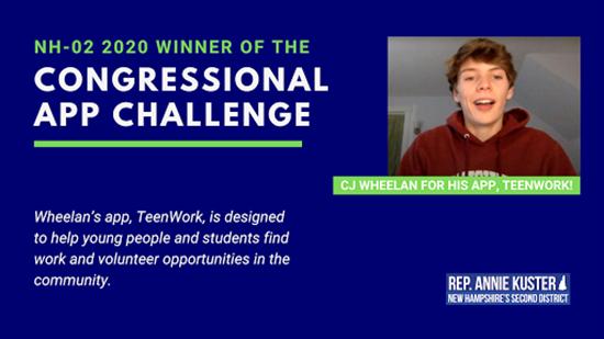 NH-02 Congressional App Winner, CJ Wheelan